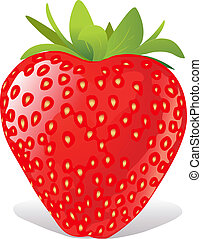 strawberry  - red strawberry on white background