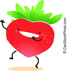 Strawberry Erdbeere Grafik - Grafik einer Erdbeere
