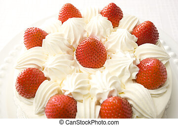 Strawberry fancy cake