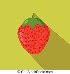Strawberry flat icon