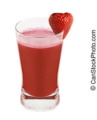 Strawberry flavor aerated drink