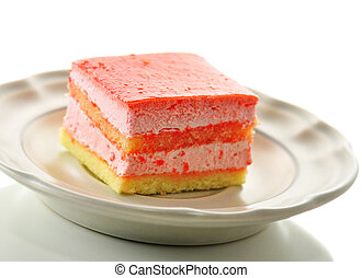 strawberry flavored layer cake