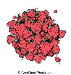 Strawberry frame, sketch for your design