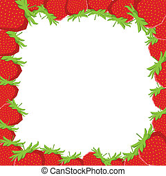 Strawberry frame, vector illustrati