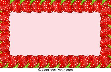 Strawberry frame vector illustration