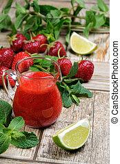 Strawberry fresh sauce
