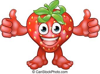 Strawberry Fruit Cartoon Character Mascot