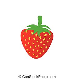 strawberry fruit icon stock