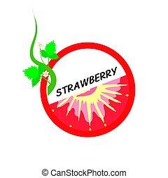 Strawberry Fruit icons flat style, Vector Illustration.