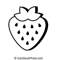 strawberry fruit pop art line style