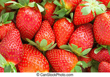 Strawberry - full frame - Fresh ripe perfect strawberry- ...