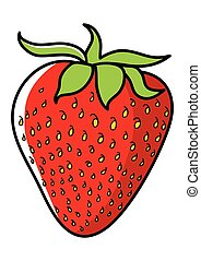 Strawberry - Graphic illustration of strawberry isolated on...