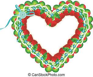 Strawberry heart frame