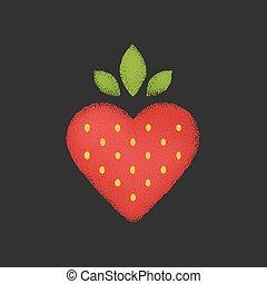 Strawberry heart illustration.
