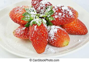 strawberry icing sugar