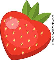 Strawberry icon, flat style