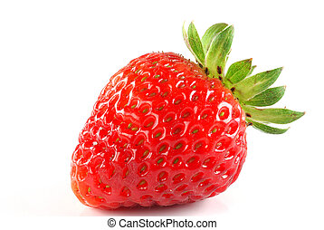 Strawberry - Image of a strawberry studio isolated on white...