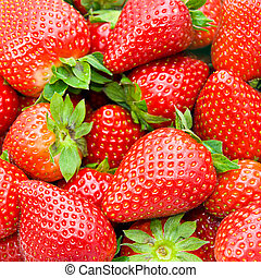 strawberry in a market