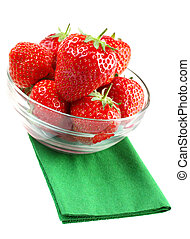 Strawberry in glass
