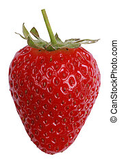 Strawberry isolated on a white background - Freshly picked ...