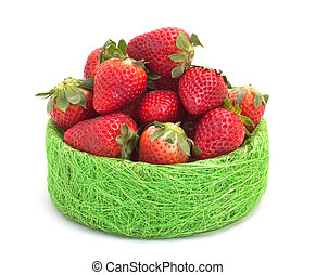 Strawberry, isolated on a white background.