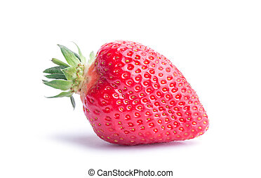 Strawberry isolated on white background. Clipping Path