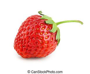 Strawberry isolated on white background close up.