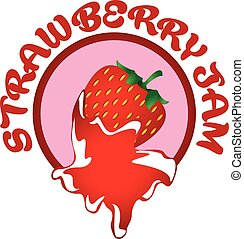 strawberry jam labe