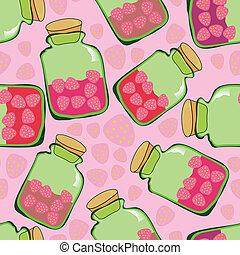 strawberry jam pattern