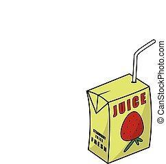 Strawberry juice box