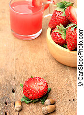 Strawberry juice fresh