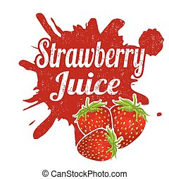 Strawberry juice stamp