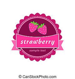Strawberry labels design.
