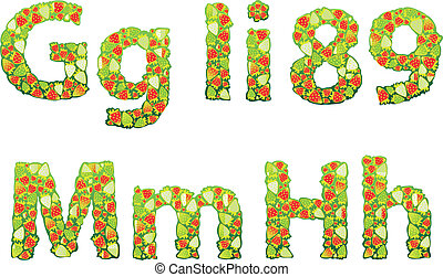 strawberry letters