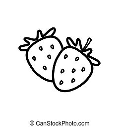 Strawberry line icon on a white background
