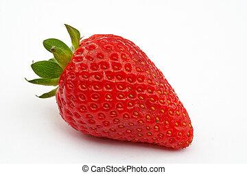 Strawberry. Macro shot on white background