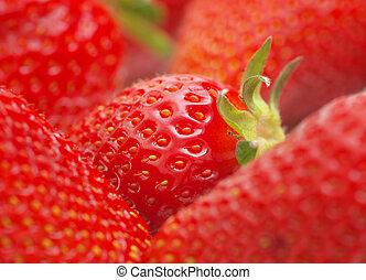 strawberry., macro
