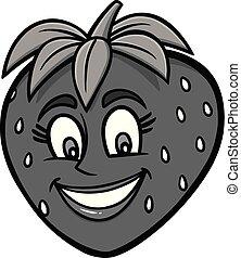 Strawberry Mascot Illustration