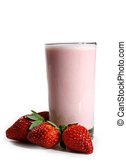 strawberry milk shake - strawberry milkshake with fresh...