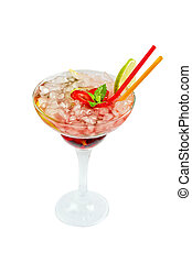 Strawberry mohito cocktail