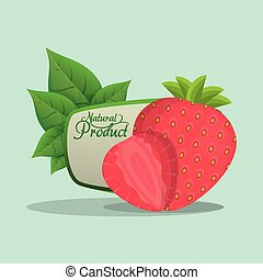 strawberry natural product label