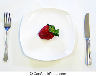Strawberry On A Pla