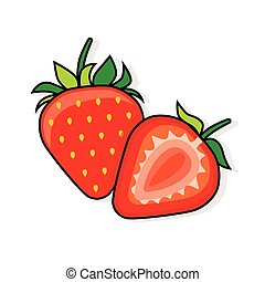 Strawberry on a white background.