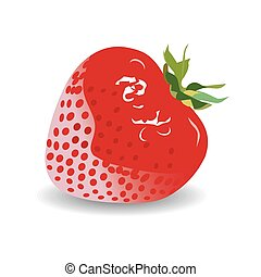strawberry on a white background. vector graphics