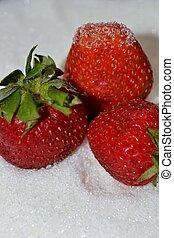 Strawberry on sugar