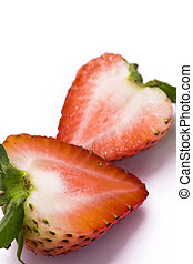 strawberry on the white background