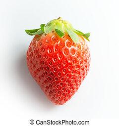 Strawberry on white