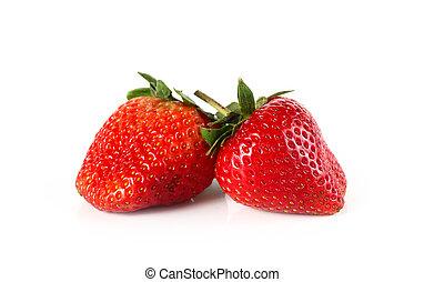 Strawberry on white background