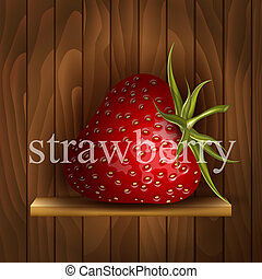 Strawberry on wooden background