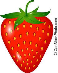 one ripe strawberry isolated on white